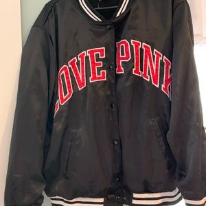 Victoria's Secret PINK silky track jacket coat L